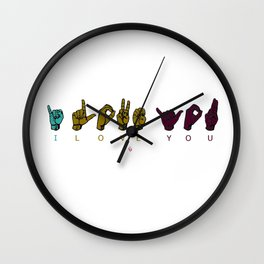 Sign Language I LOVE YOU Wall Clock