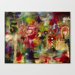 525,600 Minutes Collage Canvas Print