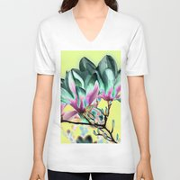 popart V-neck T-shirts featuring MAGNOLIA - PopArt by CAPTAINSILVA