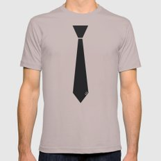Initial Tie LARGE Mens Fitted Tee Cinder