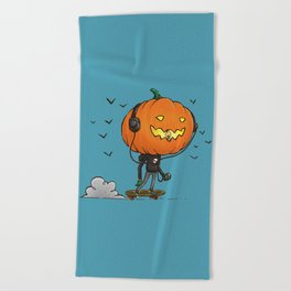 The Skater Pumpkin Beach Towel