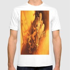 Destiny Of A Dragon MEDIUM White Mens Fitted Tee