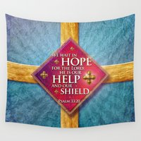 shield Wall Tapestries featuring Our Shield by Peter Gross