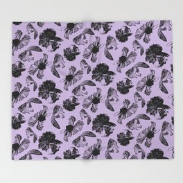 Beta Fish Lavender Throw Blanket