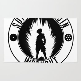 DBZ;Super Saiyajin, Black Goku WORKOUT Rug