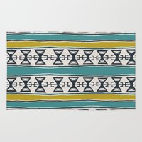 kilim Area & Throw Rugs featuring Cleveland 5 by Little Brave Heart Shop