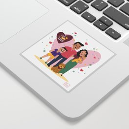 Personalized Illustratiom for Fathers Day Sticker