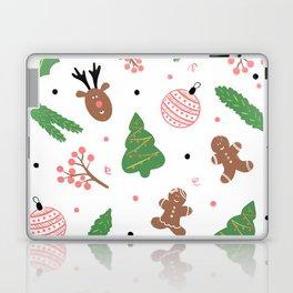 Christmas pattern in pink Laptop & iPad Skin