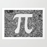 pi Art Prints featuring PI by Nora