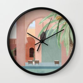 Moroccan Pool Wall Clock