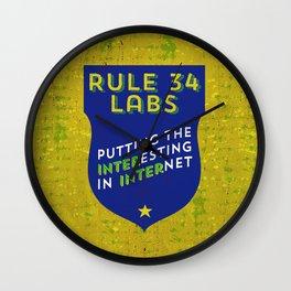 Rule 34 Labs Wall Clock
