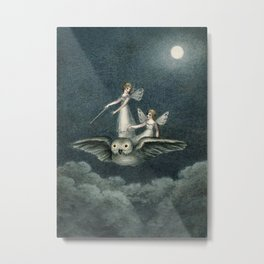 """Faeries Riding On an Owl"" by Amelia Jane Murray Metal Print"