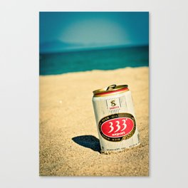 Beach and Beer Canvas Print