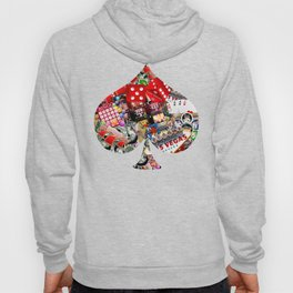 Spade Playing Card Shape - Las Vegas Icons Hoody