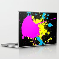 splatter Laptop & iPad Skins featuring Splatter by Spooky Dooky