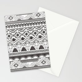 CRYSTAL AZTEC B/W  Stationery Cards