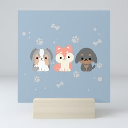 PUPPIES Mini Art Print
