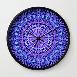 Beads of Light Mandala Wall Clock