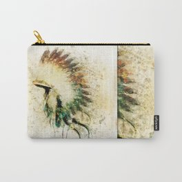 Native American Boho Headdress Sideview Carry-All Pouch