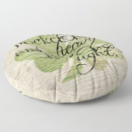An Irish Blessing  Floor Pillow