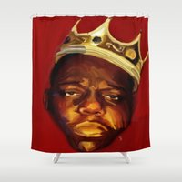 biggie Shower Curtains featuring biggie by Cree.8