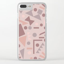 Shapes shift terrazzo Clear iPhone Case