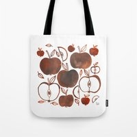 oana befort Tote Bags featuring NOT GRANNY'S APPLES by Oana Befort