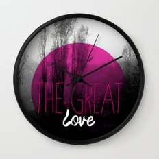 The great love - romantic photography and typography design Wall Clock