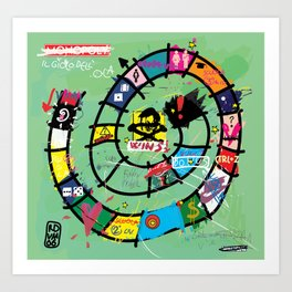 Gioco dell'Oca - The Game of the Goose (RDVM06) Limited Edition Art Print