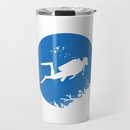 Dive Underwater Snorkel Divers Gift Idea Travel Mug