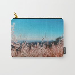 Whispering Grass Turquoise Sky Carry-All Pouch