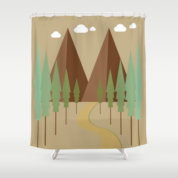 Twin Peaks Shower Curtain By Queenielamb