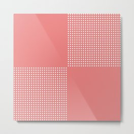 Coral Cubes Metal Print
