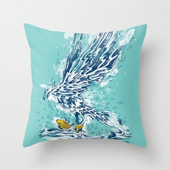 golden catch Throw Pillow