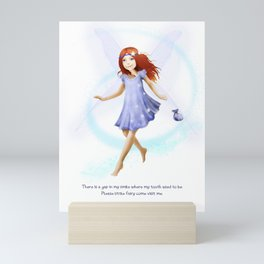Please Little Fairy, Come Visit Me Mini Art Print