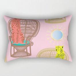 Rattan Cheetah Chairs + Mirrors Rectangular Pillow