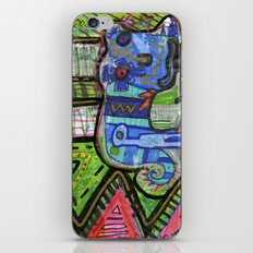 Blue Guy iPhone & iPod Skin
