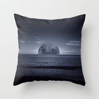 moonrise Throw Pillows featuring Moonrise by Rhianna Power