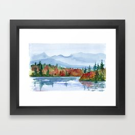 Mirror Lake in Autumn Framed Art Print