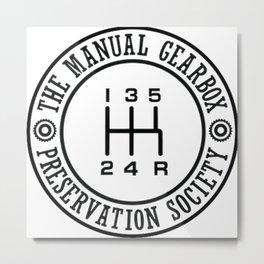 Save The Manuals Metal Print