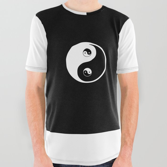 79c5d7f01 Ying yang the symbol of harmony and balance- good and evil All Over Graphic  Tee