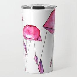 Geometric jellyfish Travel Mug