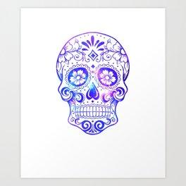 Blinking Skull Art Print