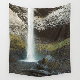 Giant Waterfall in the Columbia Gorge Wall Tapestry
