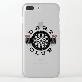 Darts WM Darts Arrow Dartboard Gift Clear iPhone Case