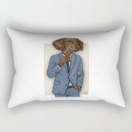 Good Morning, Dapper Doge Rectangular Pillow