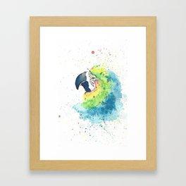 Watercolor Parrot Framed Art Print