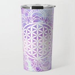 Flower Of Life (Soft Lavenders) Travel Mug