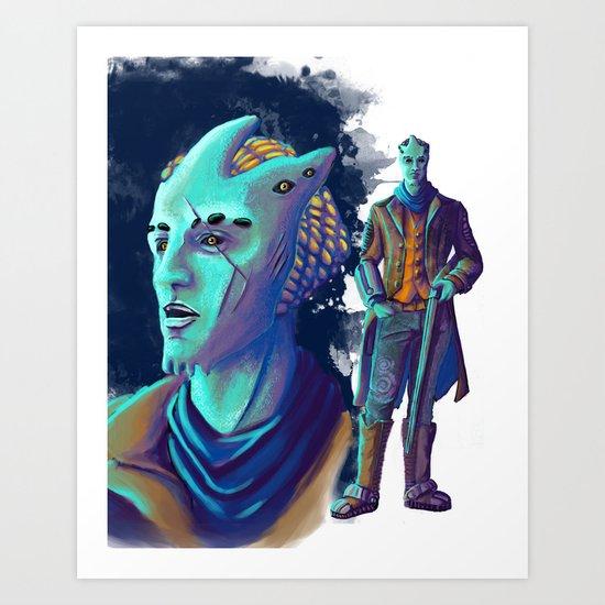 Alien Cowboy Art Print