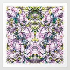Rose bushes Art Print